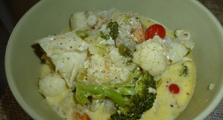 zapiekanka brokul kalafior5 740x400 23. (Prawie, że) Zapiekanka warzywna z dodatkiem kurczaka