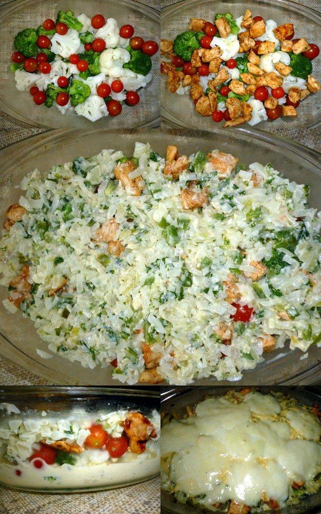 zapiekanka brokul kalafior kolaz 23. (Prawie, że) Zapiekanka warzywna z dodatkiem kurczaka