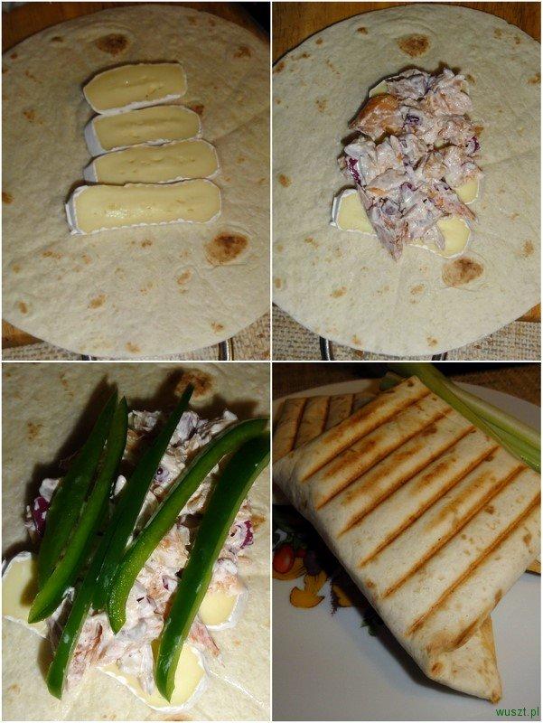 kanapka wedzony losos camembert2 55. Kanapka z łososiem wędzonem i serem camembert (na ciepło!)