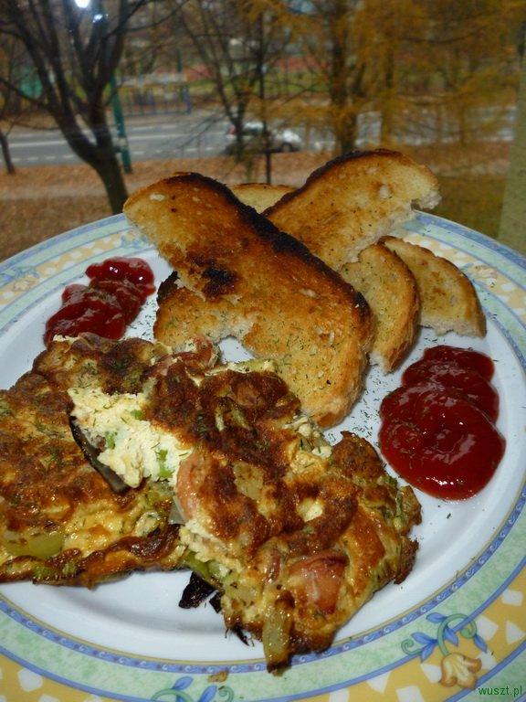 omlet seler naciowy 53. Omlet z selerem naciowym i grzanki