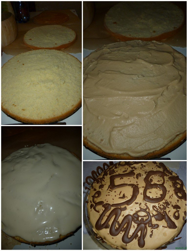 tort kawowo likierowy1 83. Tort kawowo likierowy (Baileys)