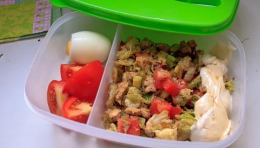 Lunchbox na dziś: sałatka z kurczakiem
