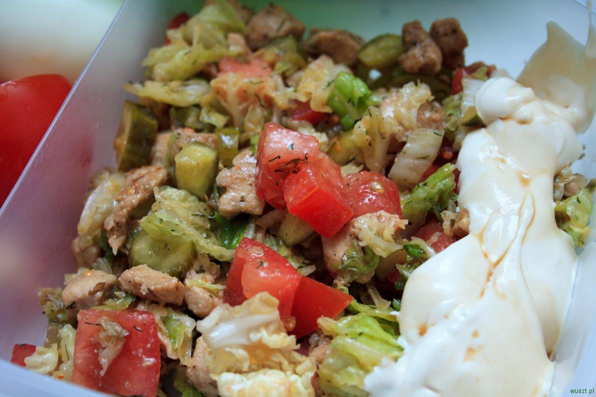 lunchbox na dzis salatka z kurczakiem2 Lunchbox na dziś: sałatka z kurczakiem