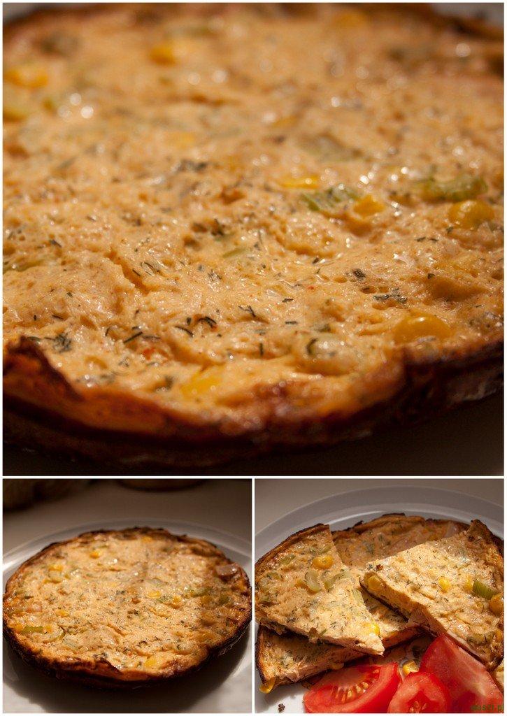 sniadaniowa frittata 1 95. Śniadaniowa Frittata (szynka, kukurydza i seler naciowy)