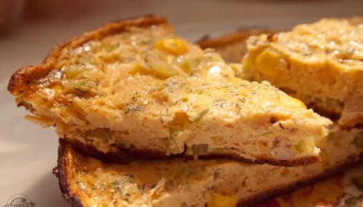 95. Śniadaniowa Frittata (szynka, kukurydza i seler naciowy)