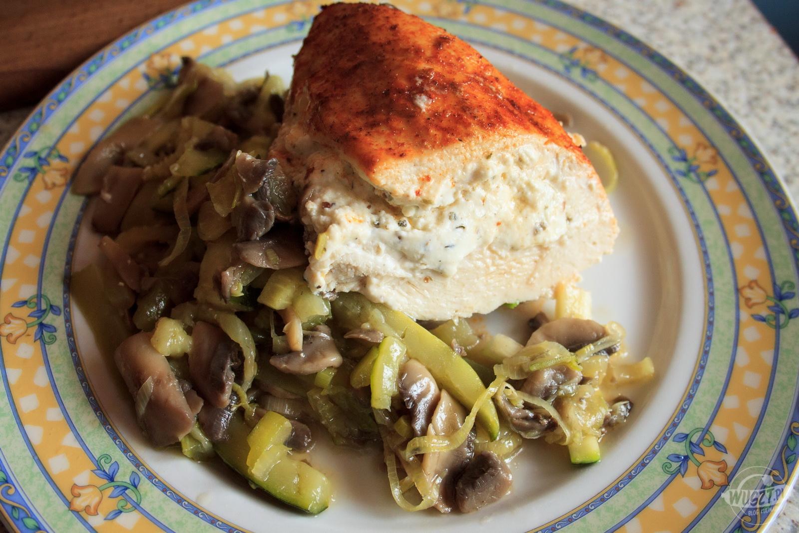piers feta warzywa montignac 3 103. Pieczone piersi z fetą i warzywami [Montignac, Tłuszczowe]