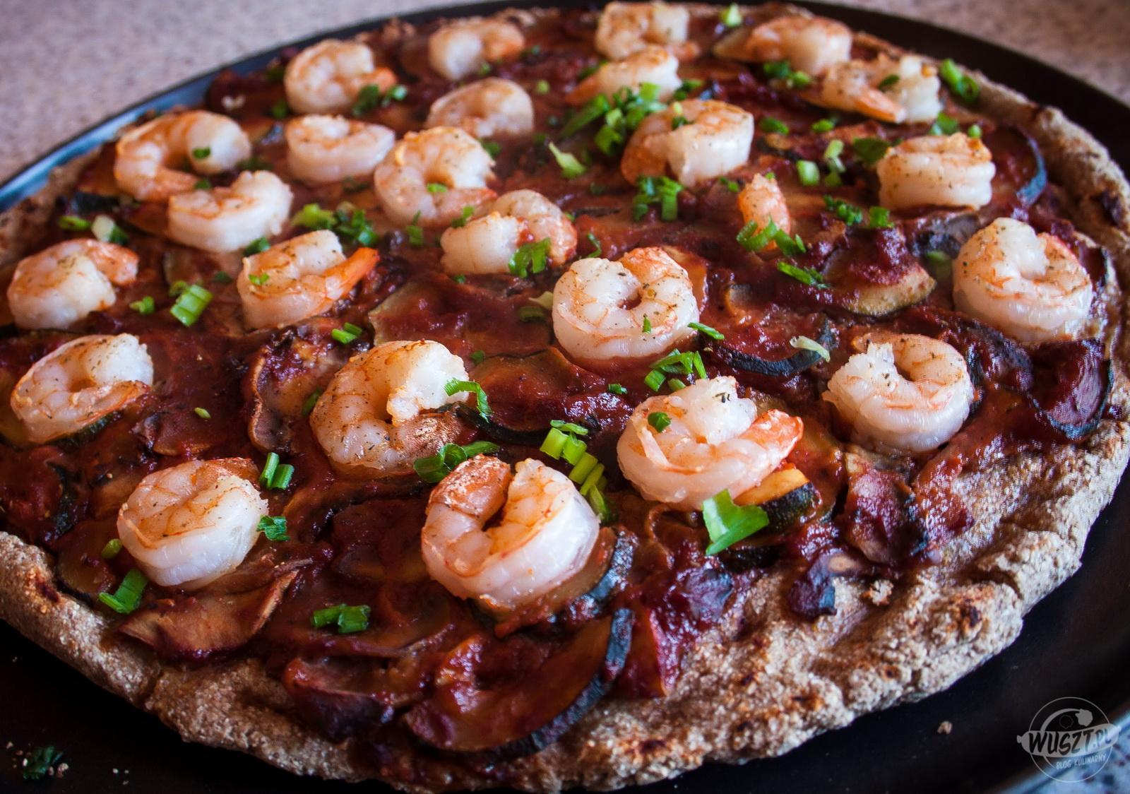 pizza  krewetki weglowodany montignac 1 104. Pizza z krewetkami [Montignac, Węglowodany]