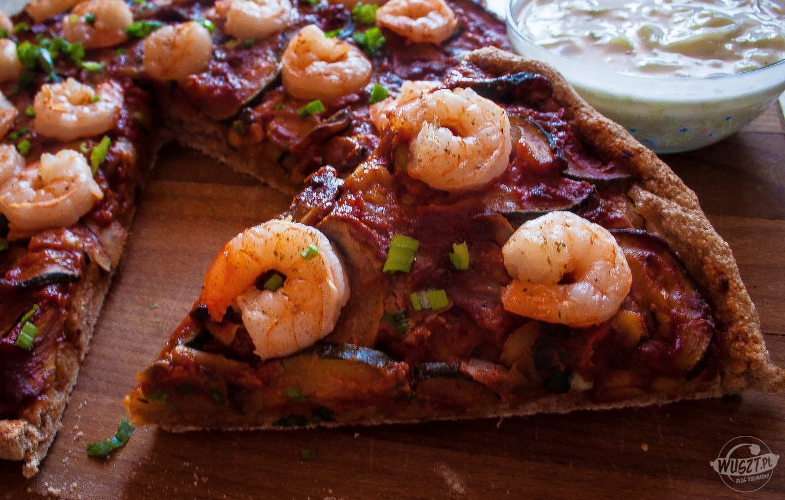 pizza  krewetki weglowodany montignac 2 104. Pizza z krewetkami [Montignac, Węglowodany]