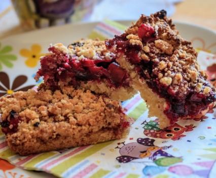 ciasto rabarbarowo jagodowe 6 426x351 107. Ciasto rabarbarowe z jagodami